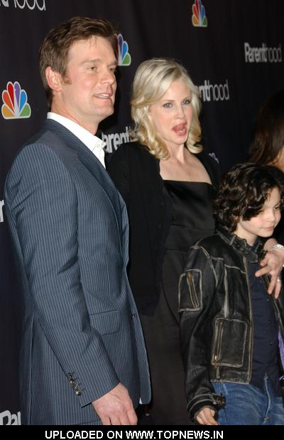 "Peter Krause and Monica Potter at NBC/Universal's ""Parenthood"" Premiere Screening - Arrivals"