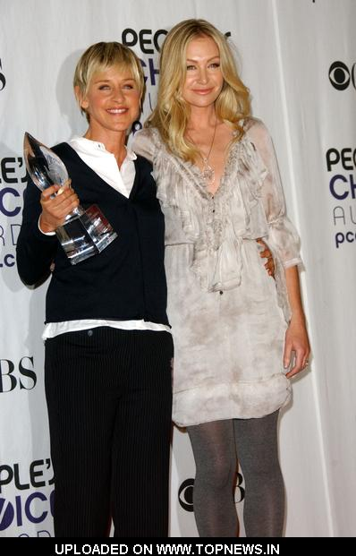 Portia De Rossi at 35th Annual People's Choice Awards - Press Room