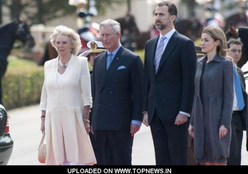 Prince Charles, Prince Felipe, Camilla Duchess of Cornwall and Princess Letizia Official Visit at the Spanish Royal Palace