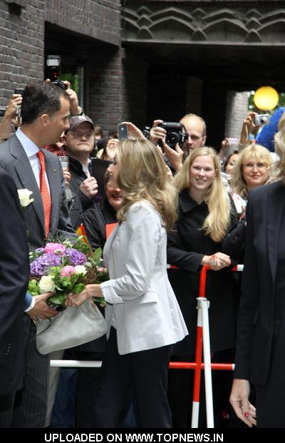 Prince Felipe and Princess Letizia of Spain Attend the Inauguration of the