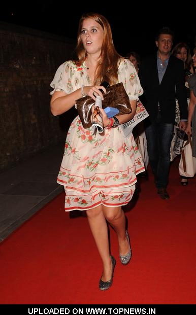 Princess Beatrice at RD Crusaders in Concert to Benefit the Marie Curie Cancer Hospital at Old Billingsgate Fish Market
