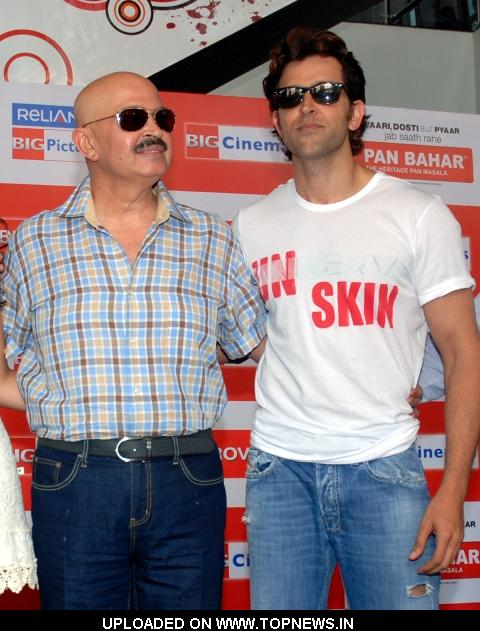 "Rakesh Roshan and Hrithik Roshan at Promotion and Press Conference of Movie ""Kites"""