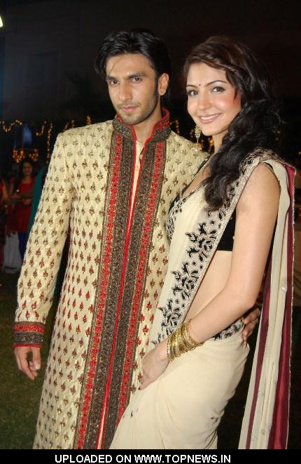 Ranveer Singh and Anushka Sharma at Yash Raj Movie-Band Baaja Baaraat Winners' Reception Party