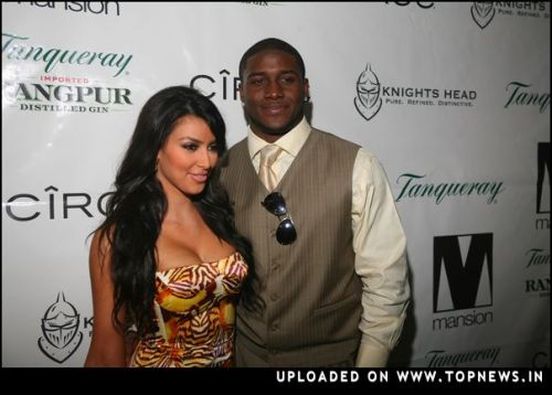 Reggie Bush at New Years Eve at Mansion Hosted by Kim Kardashian