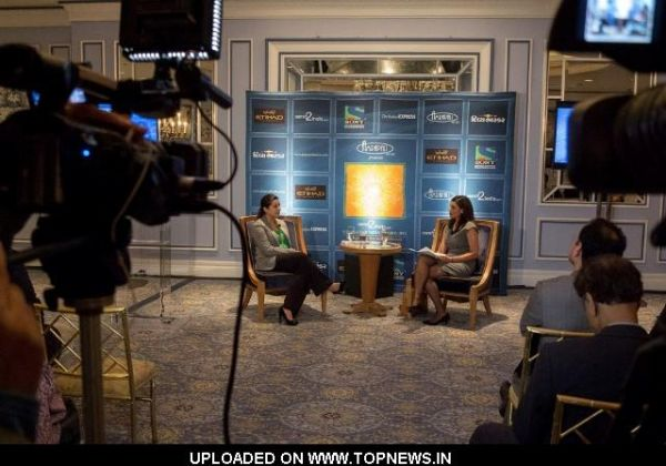 Reshma Saujani, Sital Patel Senior Producer of FOX News during a discussion on Indian Americans
