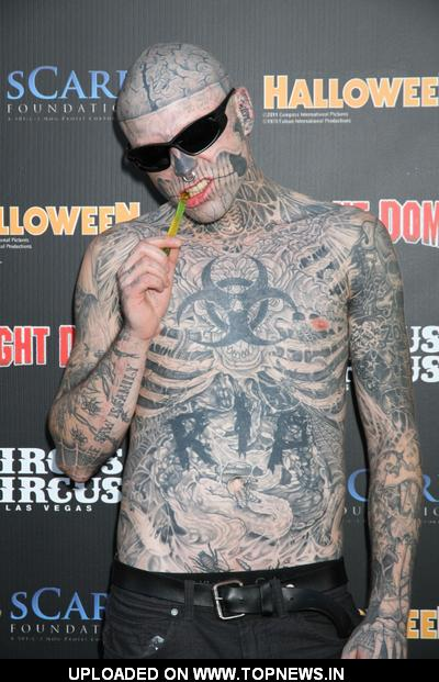 rick genest at 9th annual fright dome at circus circus kicks off the 2011 halloween - Adventuredome Halloween