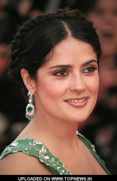 "Salma Hayek at 2008 Cannes Film Festival - ""Indiana Jones and the Kingdom of the Crystal Skull"" Premiere - Arrivals"