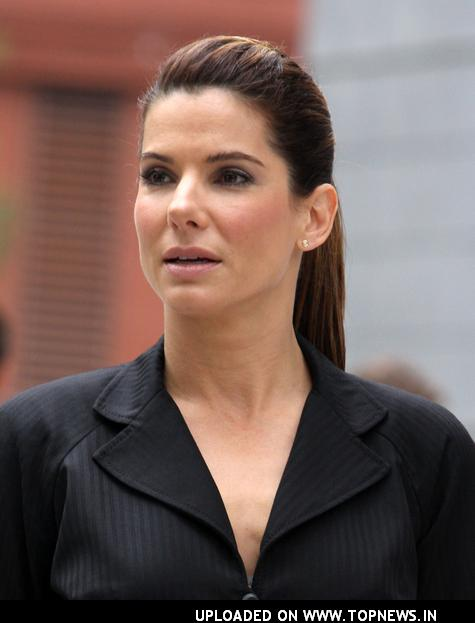 Sandra Bullock At The Proposal Movie Set In Lower Manhattan New