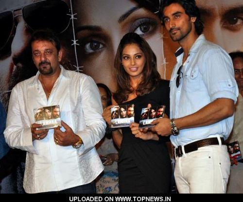 "Sanjay Dutt, Bipasha Basu and Kunal Kapoor at Music Launch of Movie ""Lamhaa"""
