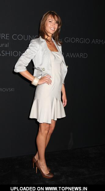 Sarah Larson at Giorgio Armani Receives the Couture Council's Global Fashion Leadership Award