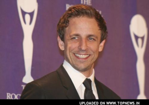 Seth Meyers at 23rd Annual Rock and Roll Hall of Fame Induction Ceremony - Press Room