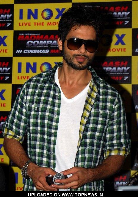 Shahid Kapoor at  Promotion of Movie-Badmaash Company