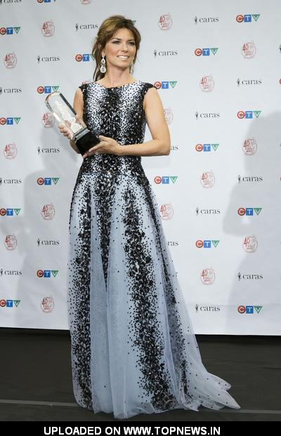 Shania Twain at 2011 Juno Awards - Press Room
