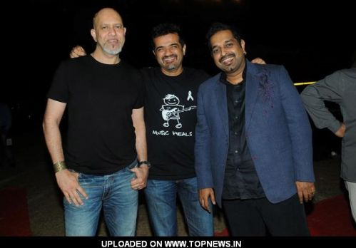Shankar Mahadevan, Ehsaan Noorani with Loy Mendonsa at Music Heals Concert held at Andheri Sports Complex in Mumbai