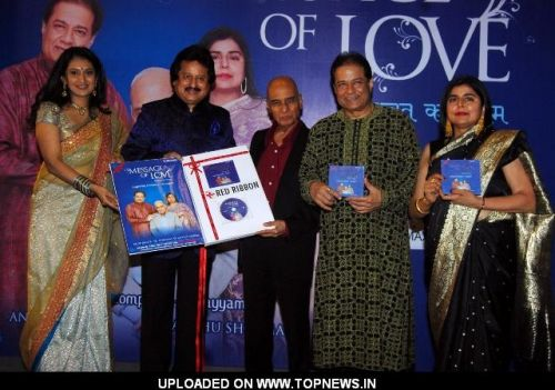 Pankaj Udhas at Launch of Album-Message Of Love