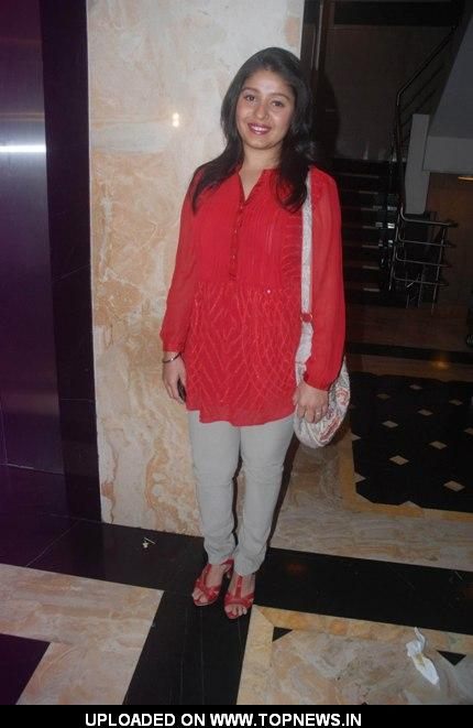 Singer Sunidhi Chauhan at the party hosted by singer Krisna