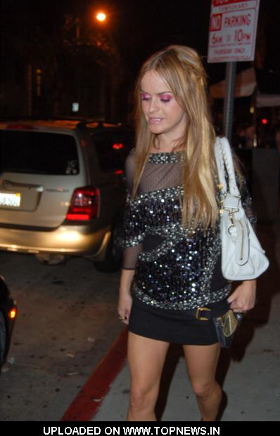 Taryn Manning at  Celebrities Departing Madame Royale in Hollywood on July 16, 2009