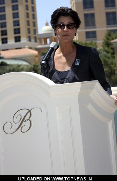 Tina Sinatra at Dedicating the Frank Sinatra Stamp at the Bellagio Fountains in Las Vegas