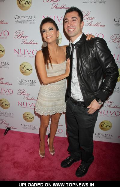 "Eva Longoria ,Tino Coury at 36th Birthday Celebration with ""Nuvo"" at Beso Steakhouse and Eve Nightclub in Las Vegas"
