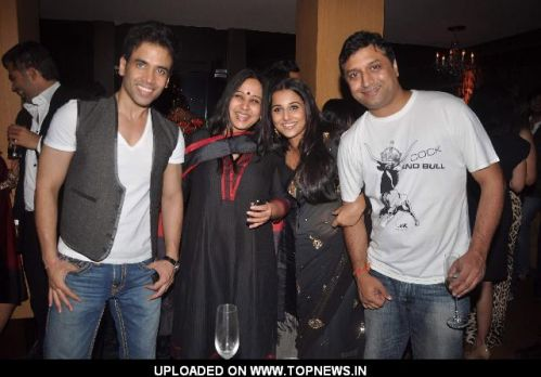 Tusshar kapoor and Vidya Balan at The Dirty picture success party at Aurus