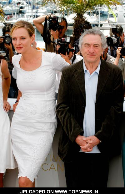 Uma Thurman and Robert De Niro at 64th Annual Cannes Film Festival - Jury Photocall
