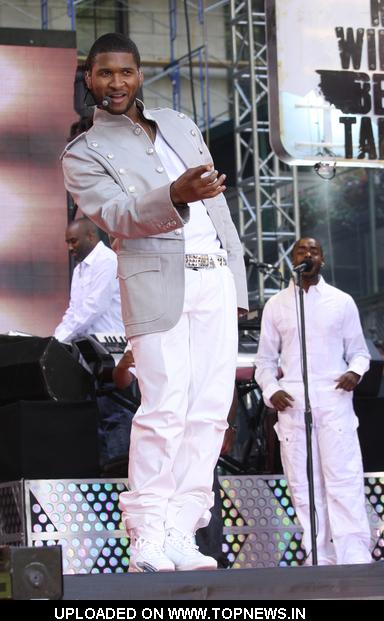 "Usher at Usher Performs on ABC's ""Good Morning America"" at Bryant Park in New York on May 30, 2008"