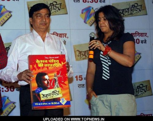 Ved Prakash and Ekta Kapoor at the Launch of Keshav Pandit Book