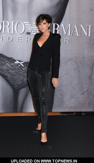 Victoria Beckham at Unveils New Emporio Armani Underwear Campaign at Macy 39s