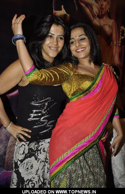 Vidya Balan and Ekta Kapoor at The Dirty picture Success Media meet in Novotel, Mumbai