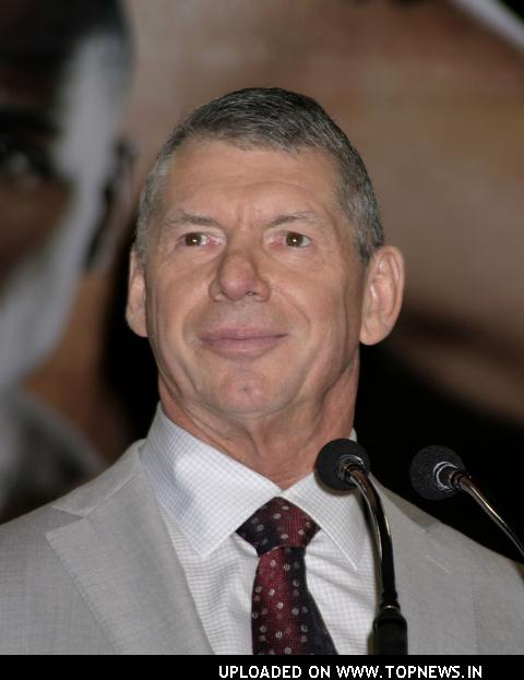 Vince McMahon at Press Conference Before WrestleMania XXIV -