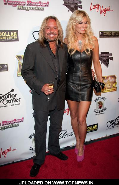 Vince Neil and Rain Andreani at Vegas Rocks! Magazine Awards 2011 - Arrivals