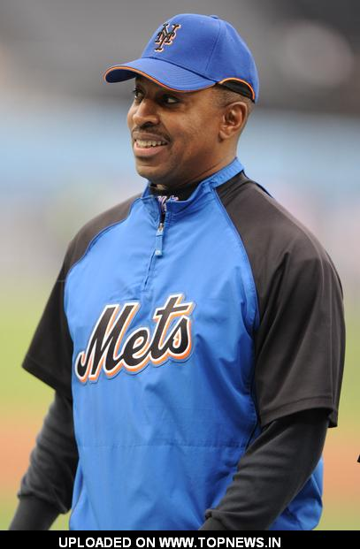 Willie Randolph at 2008 MLB - New York Mets at Los Angeles Dodgers (4-5) - May 6, 2008