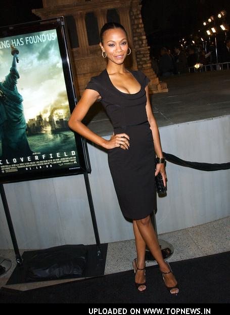 "Zoe Saldana at ""Cloverfield"" Los Angeles Premiere - Arrivals"
