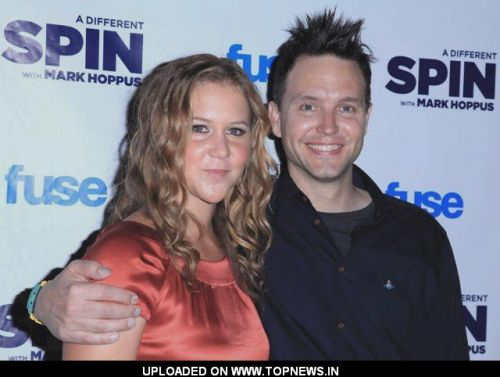 "Amy Schumer and Mark Hoppus FUSE's ""A Different Spin With Mark Hoppus"" launch party"