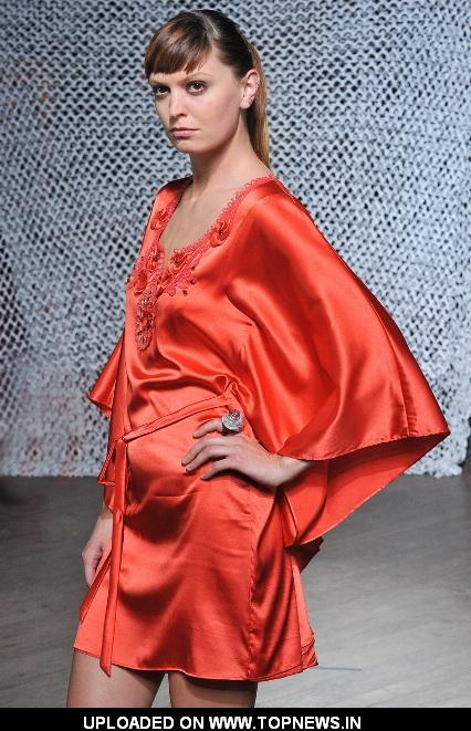 "Christophe Guillarmé's spring-summer 2013 collection ""Muse"" Model on the Ramp"