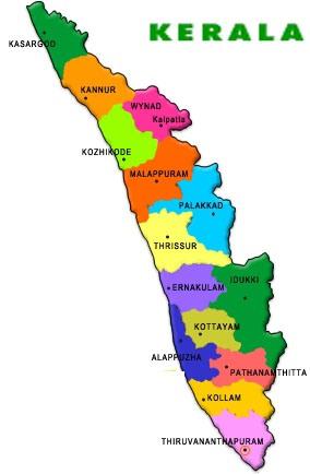 Image result for kerala political map