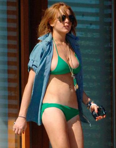 lindsay lohan bikini