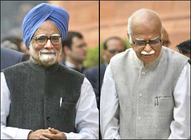 Advani, PM disagree on communal-secular divide