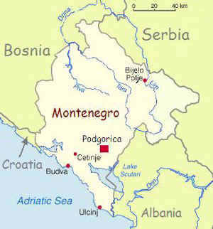Image result for Podgorica country map