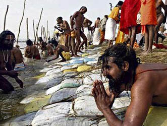 Pilgrims on River Ganges