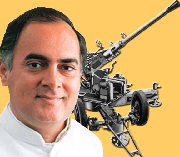 Rajiv Gandhi and Bofors.