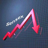 Sensex Weak In Choppy Trade; DLF Down 14.57%