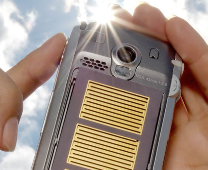 Solar-powered Cell Phones developed by LG and Samsung