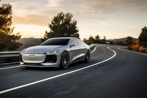 Audi takes wraps off new EV platform PPE-based A6 e-tron concept