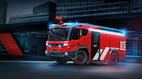 Volvo Penta starts producing electric driveline for world's first electric fire truck