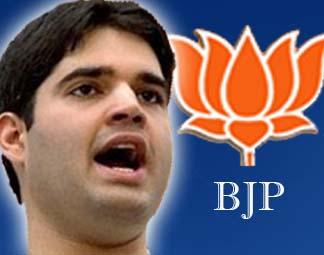 Varun leads BJP protest in Lok Sabha