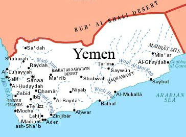 Yemen Police Seize Explosives On Two Vehicles Near US Embassy - Us embassy in yemen map