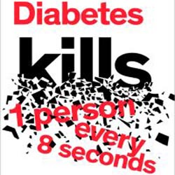 'Diabetes kills one person every eight seconds'