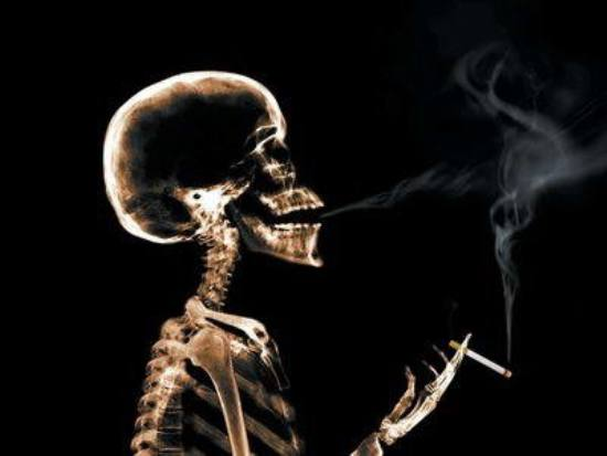 Beware, smoking damages your