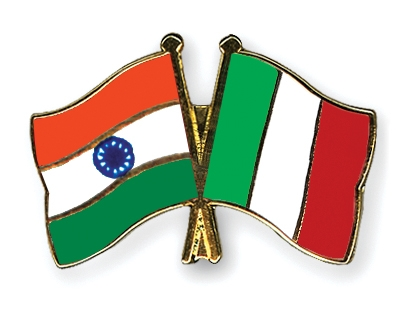 italy flag. India-Italy